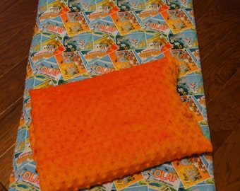Deluxe Kinder Nap Mat Cover Pillow Embroidered Blanket