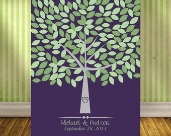 Customized Wedding Tree Guestbook, Wedding Signature Tree with 175 Leaves, Alternative Guestbook Tree, Wedding Tree Print
