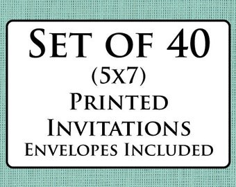 40 Custom Cards with envelopes