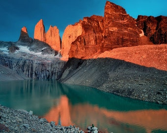 Landscape Photography, Nature Photography, Wall Decor, Iceberg, Glaciar, Chile, Torres Del Paine, Patagonia, Mountain, Lake, Sunrise, Blue