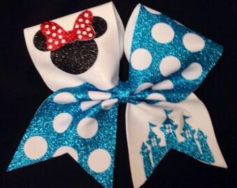 Cheer bow. Disney inspired bow!