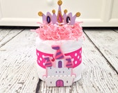 Princess Mini Diaper Cake Baby Shower Centerpiece