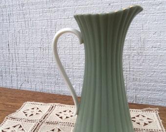 Vintage Lenox Green and Cream Porcelain Pitcher