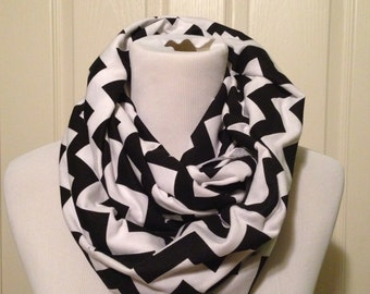 Black chevron scarf- available in infinity and regular!
