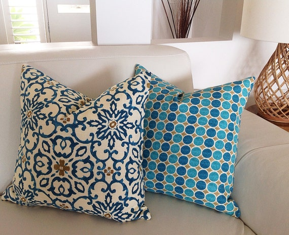 Teal Cushions Turquoise Pillows Bohemian Moroccan Teal