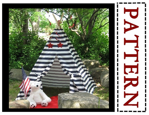 Striped Teepee Sewing Pattern Easy To Sew Instant