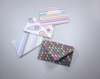 Handmade Giftcard Envelopes—Brights
