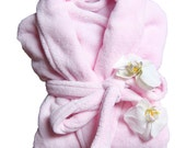 Wrapped In A Cloud LIGHT PINK  Plush Spa Robe - 100 Thread Colors to Choose From - Monogram It