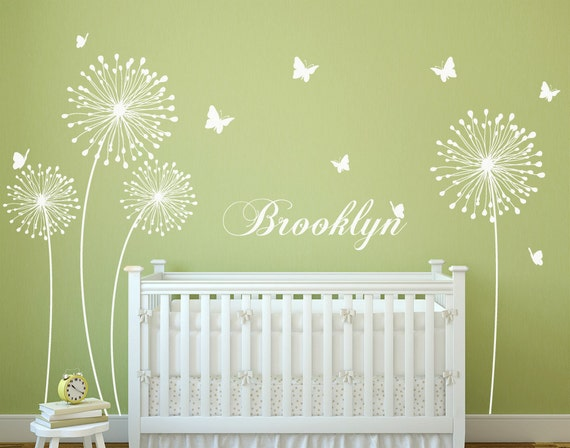 Dandelion wall decal with Butterflies Wall Sticker Decals Home