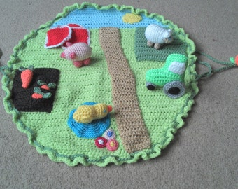 Crochet Farm mat playset