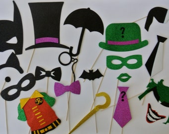 Super Hero Party Bat Inspiered  Photo Booth Party Props