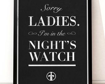 Game of Thrones Poster - 12 x 18 Art Print - Night's Watch