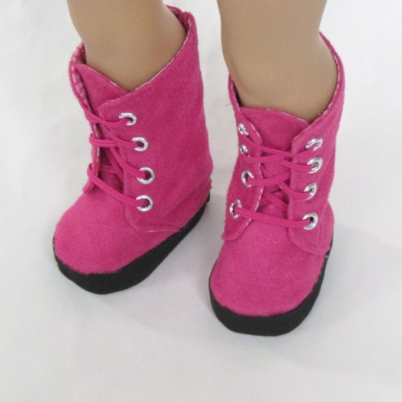 american doll clothes pink suede boots