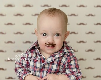 My Mustache Brings All The Girls To The Yard - Photography Backdrop