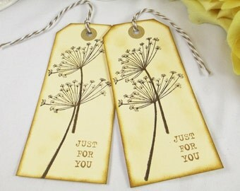 Wedding Favor Bag Tag/Gift Tag/Dandelion Wedding Thank You Tag/Bridal Shower Tag/Favor Tag/Destination Wedding Favor Tags