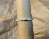 Micro pave diamond full eternity wedding band. 1.5mm. .35 carat Diamond.