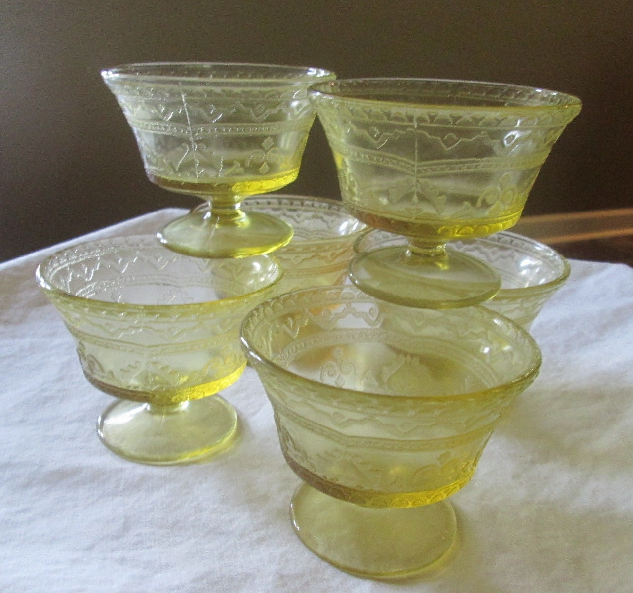 Federal Glass Amber Depression Glass Patrician By