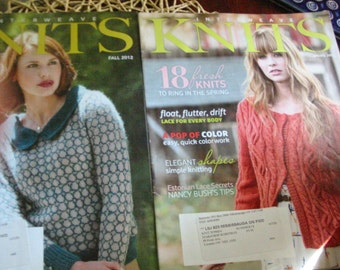 Interweave Knits Magazines Fall 2012 , Spring 2013