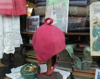 FINAL CLEARANCE SALE - Original 1960's Wool Hat - Pink