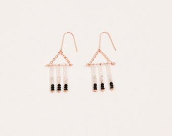 Matchstick Earrings in Rose Gold with Swarovski Crystals
