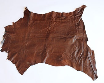 Premium Italian Lambskin Leather hide - Brown