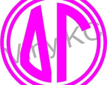 delta gamma sticker greek monogram letter 5 buy 2 get 1 free