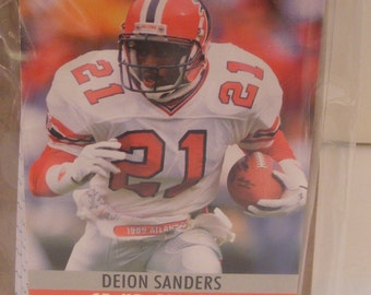 Football Falcons Deion Sanders Mini Notepad
