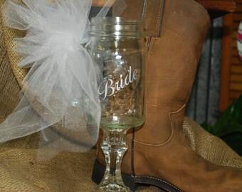 CountryRustic  Wedding Glasses