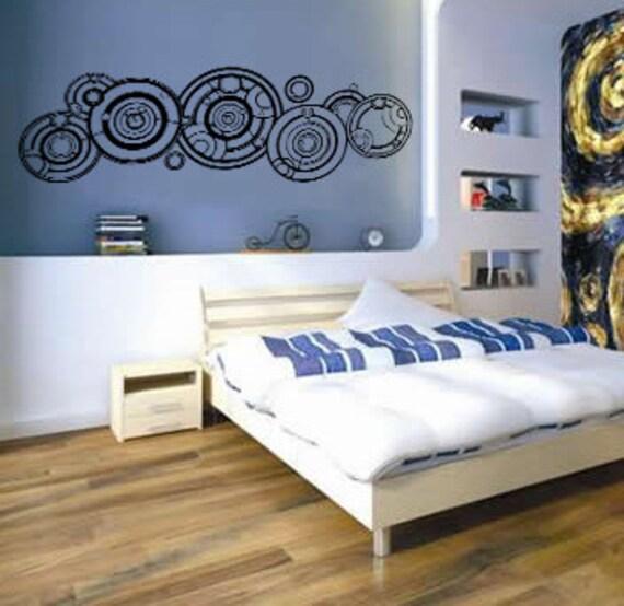 dr who inspired gallifreyan vinyl wall by luckygirldesignloft