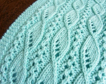"Knitting Scarf Pattern for ""Lace and Sails"" PDF download"
