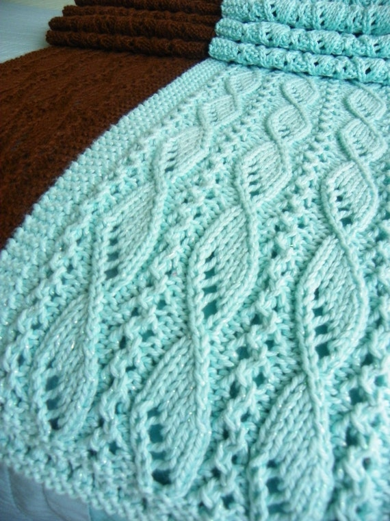 Fishnet Scarf Knitting Pattern : Knitting Scarf Pattern for Lace and Sails PDF