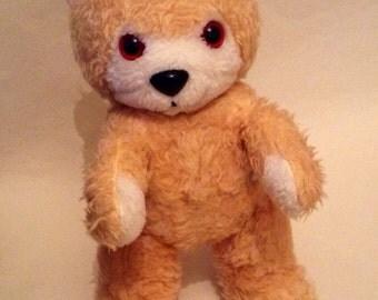 "Vintage 1950s 12"" Stuffed Honey Blonde Playskool Teddy Bear"