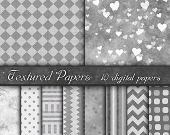 Digital Paper, backgrounds  gray