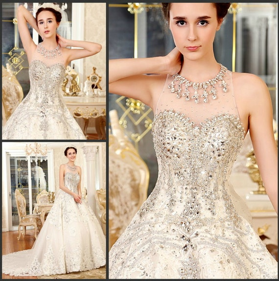 crystal ball gown