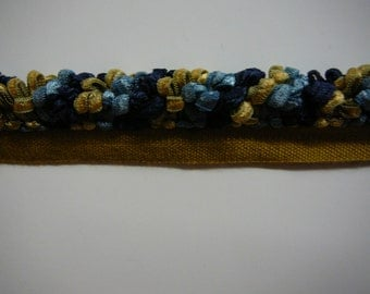 """1/2"""" ribbon cording in blues and golds"""