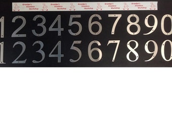 """4 1/2"""" Brushed Stainless Steel House Numbers"""