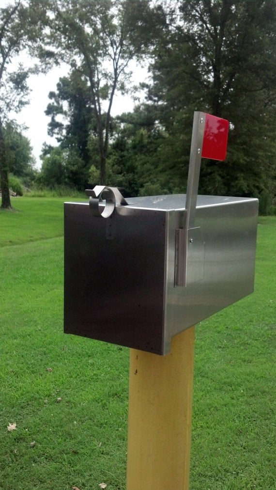 The breadbox handmade stainless steel decorative mailbox for Unique mailboxes with post