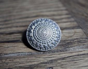 30% OFF SALE - Kelt Breton Celtic Brooch Silver France / French Boho Bohemian Chic / Mother's Day Gift