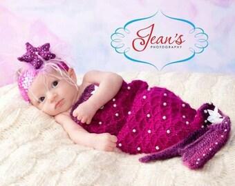 Baby Mermaid Knit Cocoon Set