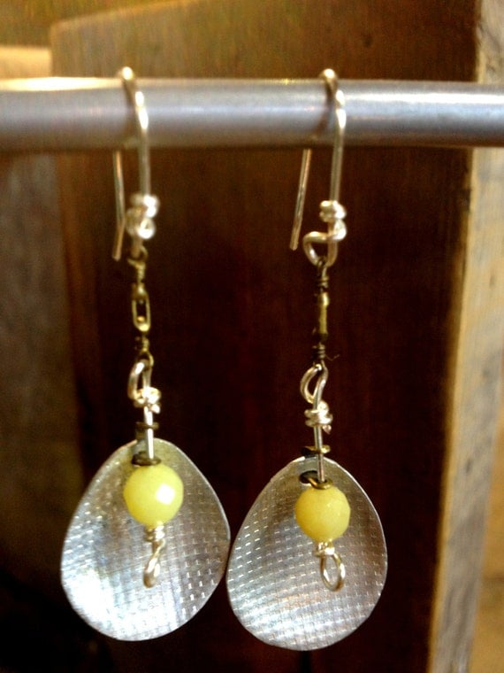 fishing lure earrings items similar to vintage fishing lure earrings with yellow 5981