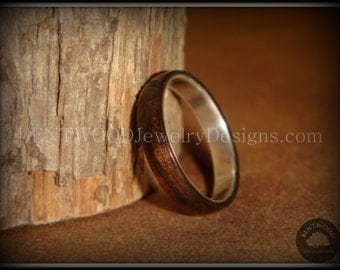 Bentwood Ring - Ebony Wood Ring on Fine Silver - Custom handcrafted steam bent wood rings - durable, unique, one-of-a-kind wearable art.
