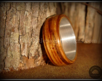 "Bentwood Ring - ""Zebrano"" African Zebrawood - custom handcrafted steam bent wood rings - durable, unique, one-of-a-kind wearable art."