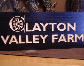 Wooden Carved Sign, Family Name Sign, Personalized Wooden Signs, Custom Outdoor Signs, Wooden Wall Art, Established Signs, Benchmark Signs