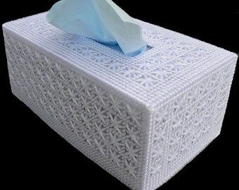 FAMILY Size Tissue Box Cover LACY LOOK Beautiful