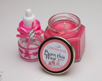 Fresh Baby Powder Scented Soy Candle perfect for Baby Showers and Housewarming gift.