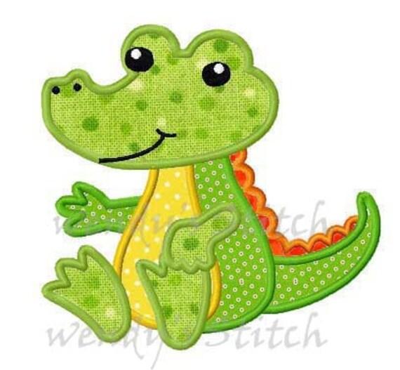Alligator, Alligator Filled Embroidery Design, Sweet Peas ...  |Alligator Design Embroidery Floss