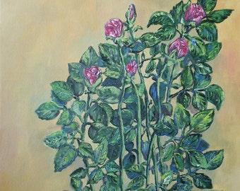 Little roses - an original painting by Liena Ivanova