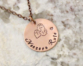 Havanese Dog Hand Stamped Sterling Silver Necklace - Neezers Rule