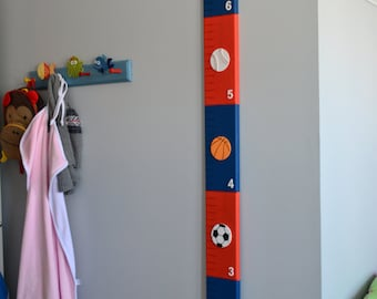 Wooden Growth Chart - Sport Theme
