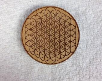 Sacred Geometry Wood Hat Pin